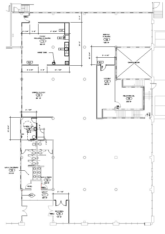 Venues abraham catering for Blank floor plan